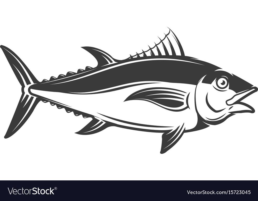 Tuna icon isolated on white background.