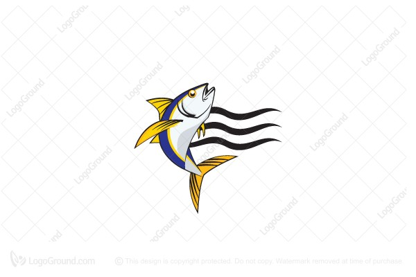 Exclusive Logo 47632, Jumping Tuna Logo.