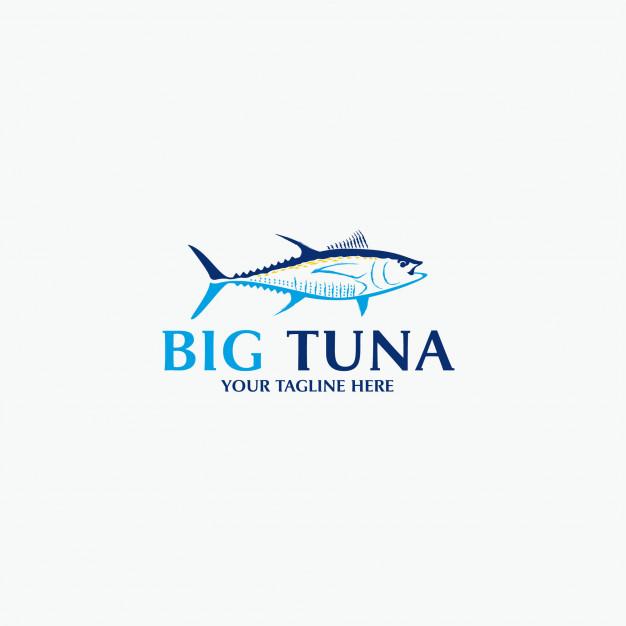 Big tuna logo Vector.