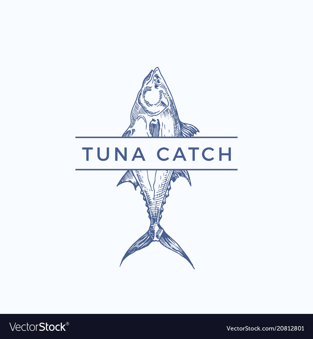 Tuna catch abstract sign symbol or logo.