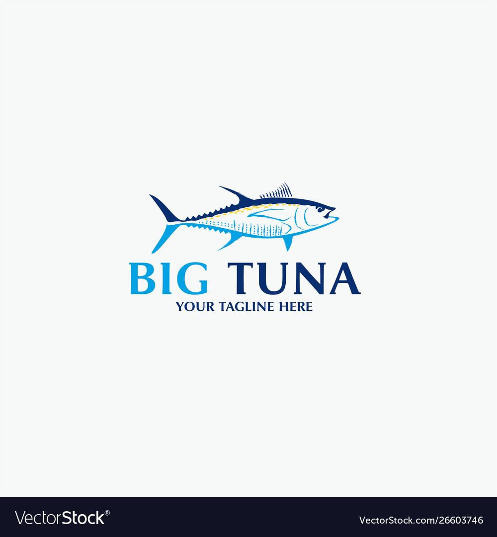 Big tuna logo template.