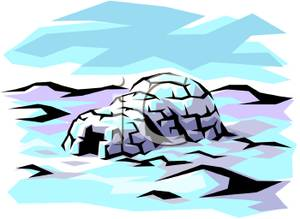 Arctic tundra clipart.