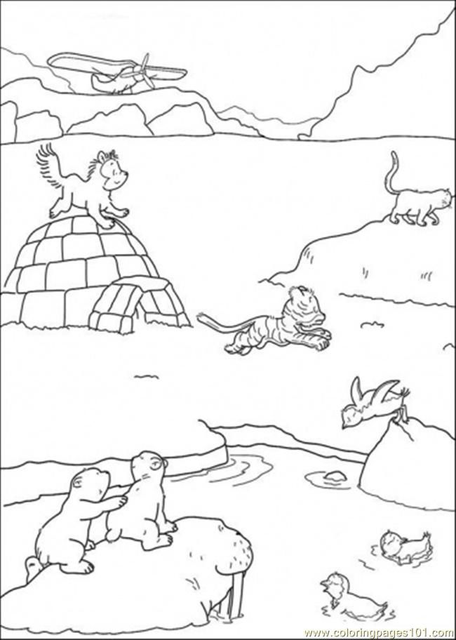 Arctic Tundra Coloring Pages.