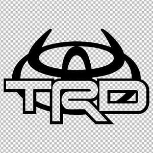 Details about TOYOTA TRD HORNS LOGO DECAL VINYL STICKER 4RUNNER TUNDRA LAND  CRUISER TACOMA.