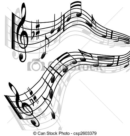 Stock Illustration of Music notes.