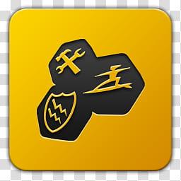 Icon , Tune UP, yellow Tuneup Utility icon transparent.