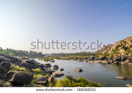 Tungabhadra River Stock Photos, Royalty.