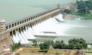 Tungabhadra dam is full: 12 crest gates opened.
