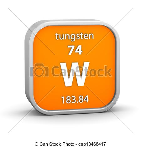 Clipart of Tungsten material sign.