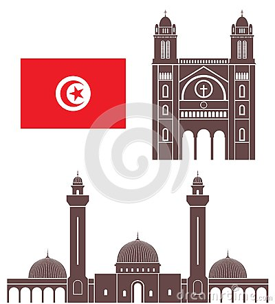 Great Mosque Kariouan Tunisia Stock Illustrations.