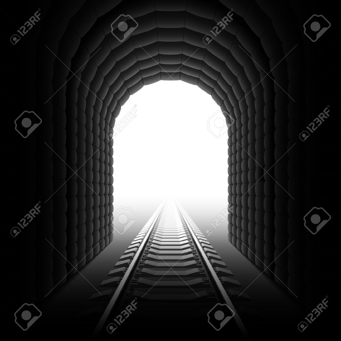 Train tunnel entrance clipart.