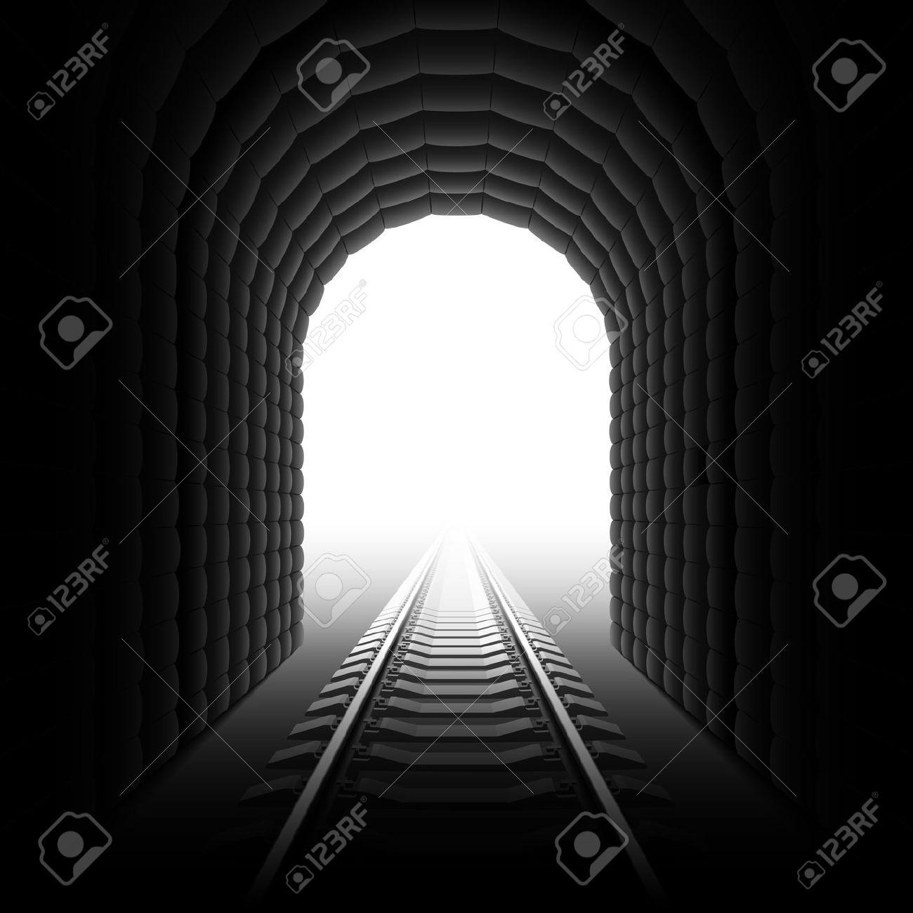 Train tunnel entrance clipart.