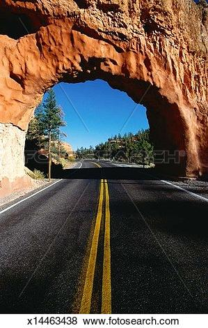 Pictures of Red rock tunnel on highway x14463438.