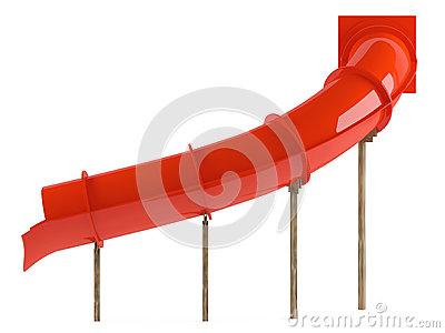 Aquapark Slide Tube Isolated Stock Images.