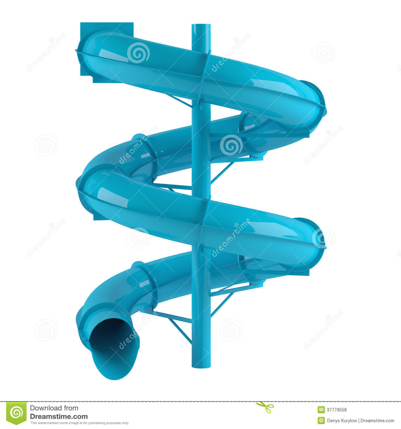 Aquapark Slide Tube Isolated Royalty Free Stock Photos.