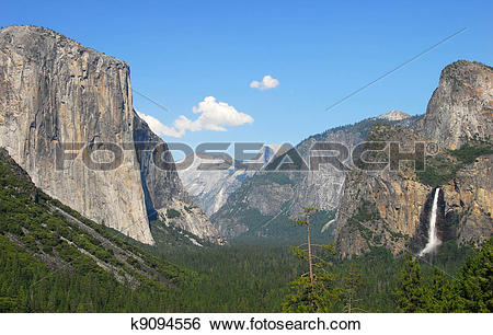 Stock Images of Tunnel view Yosemite National Park k9094556.