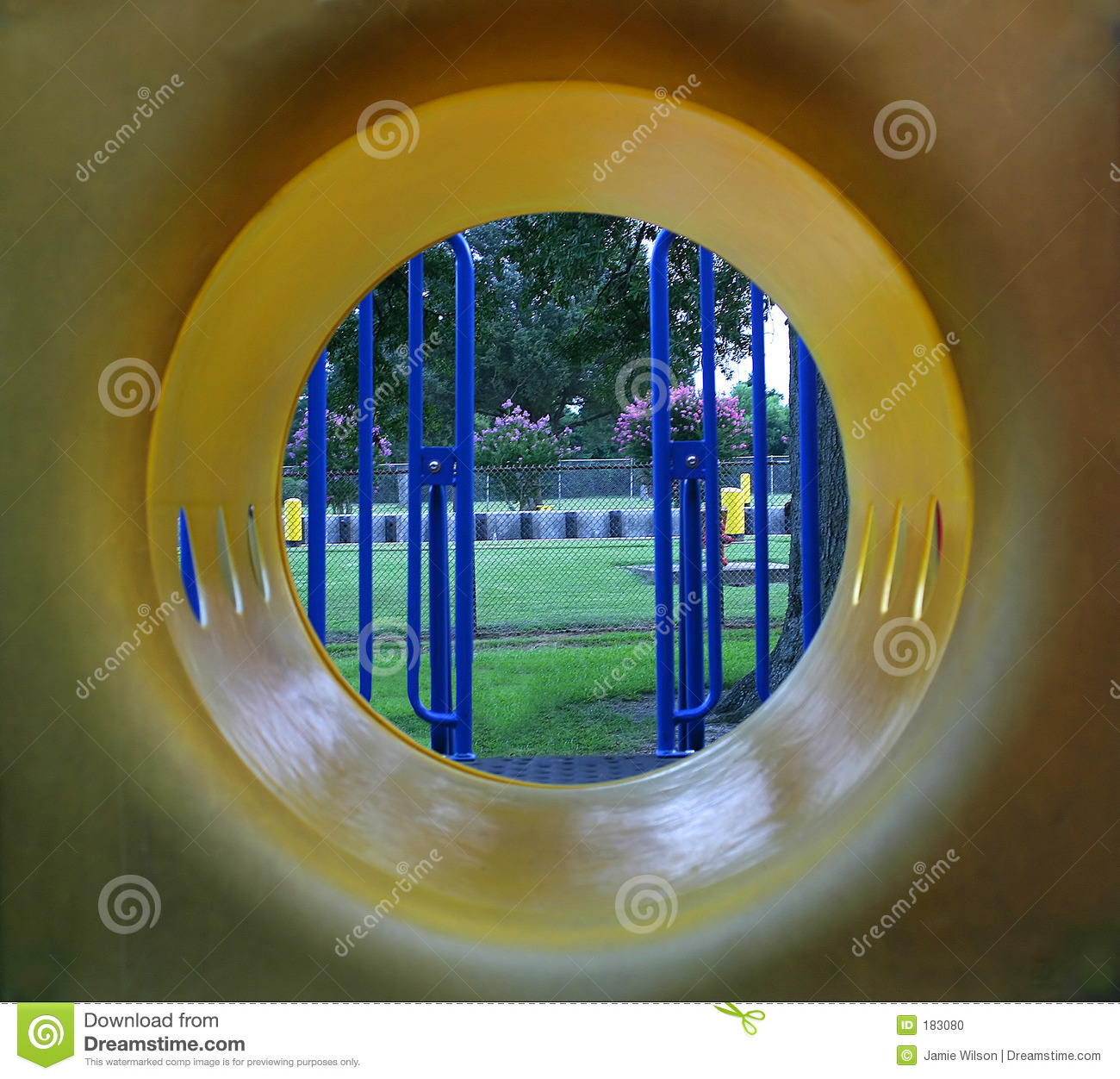 Tunnel Vision Stock Photo.