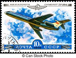 Tupolev Clip Art and Stock Illustrations. 20 Tupolev EPS.