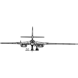 Tupolev 160 strategic bomber clipart, cliparts of Tupolev 160.
