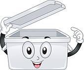 Plastic Storage Container Bin Stock Photos.