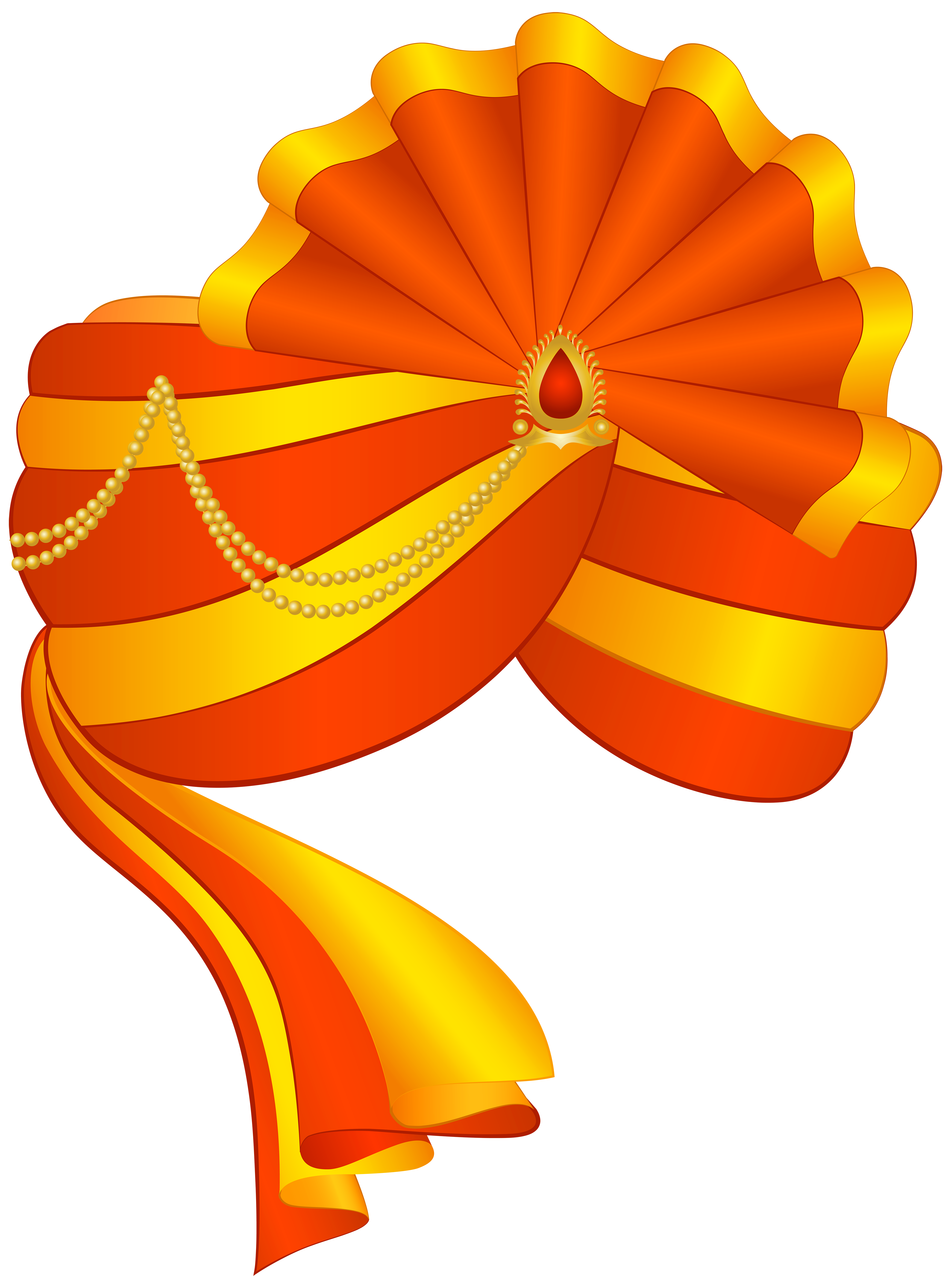 Indian Turban PNG Transparent Clip Art Image.