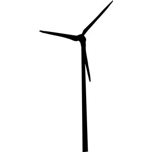 Moving Wind Turbine Clipart.