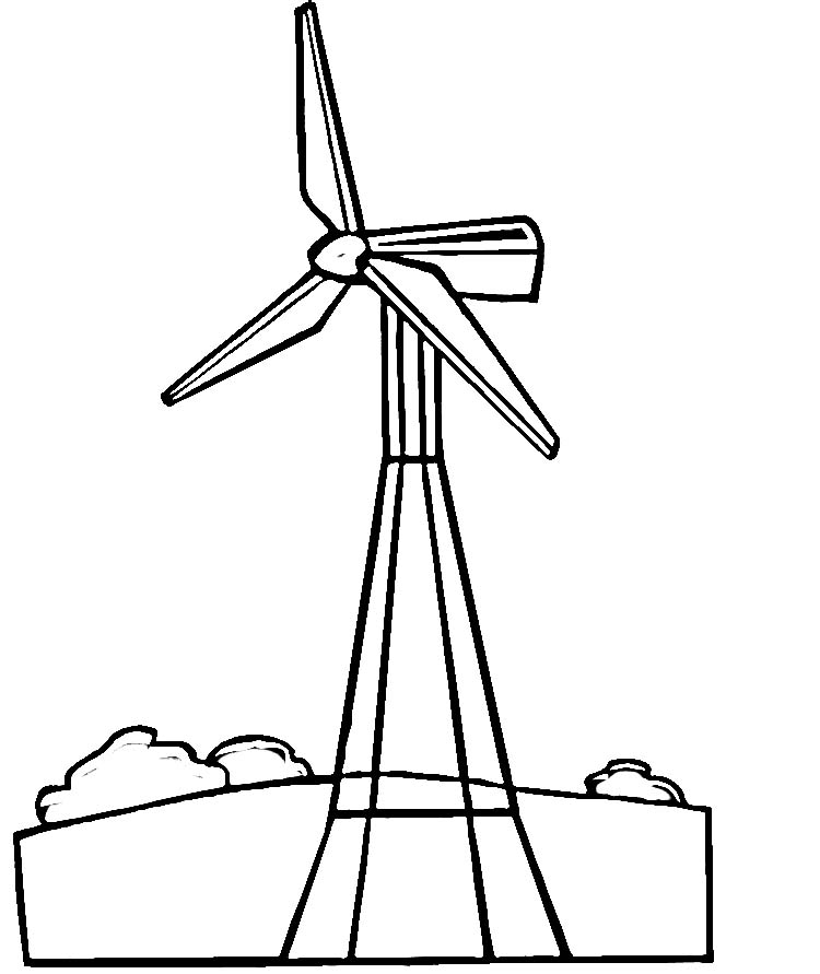Free Wind Turbine Clipart Black And White, Download Free.