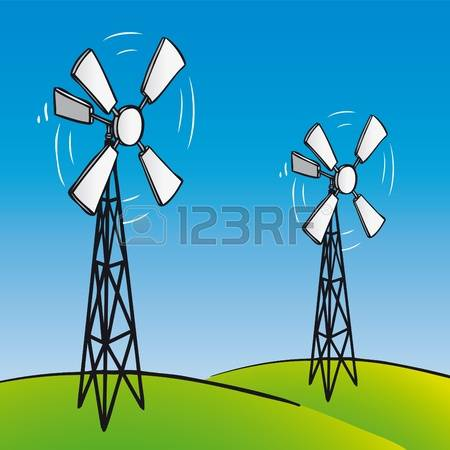 Windmill Rotor Stock Vector Illustration And Royalty Free Windmill.