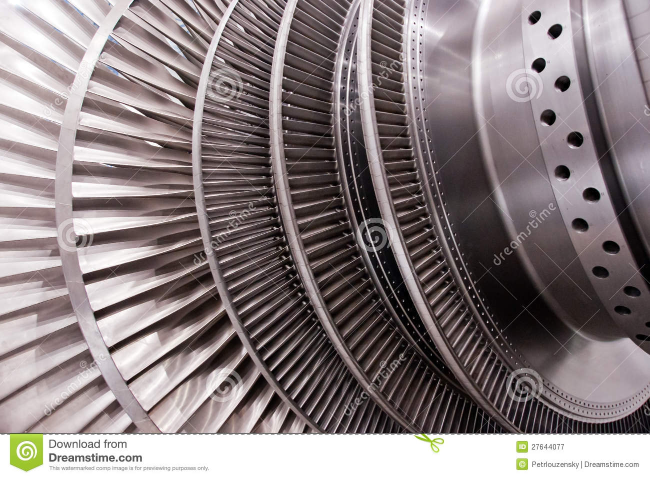 Low Pressure Steam Turbine Rotor Royalty Free Stock Photography.