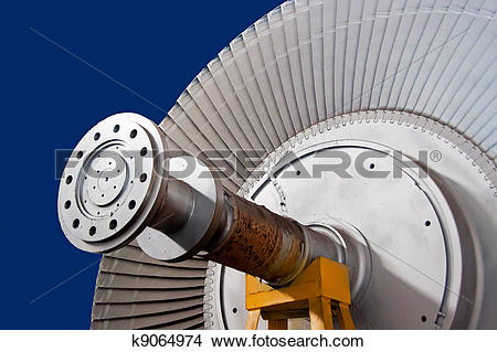Stock Photo of The wheel of rotor of steam.