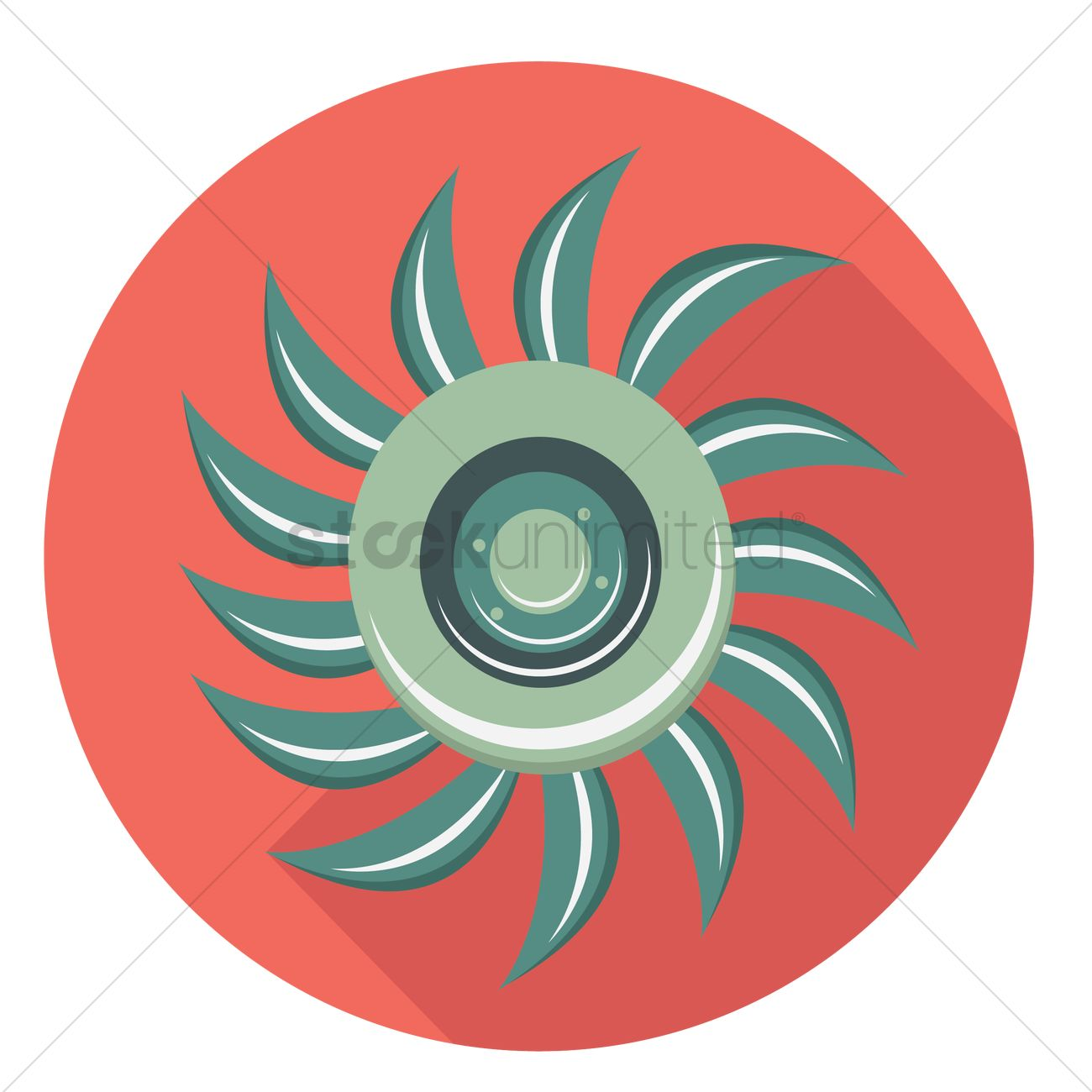 Water turbine Vector Image.