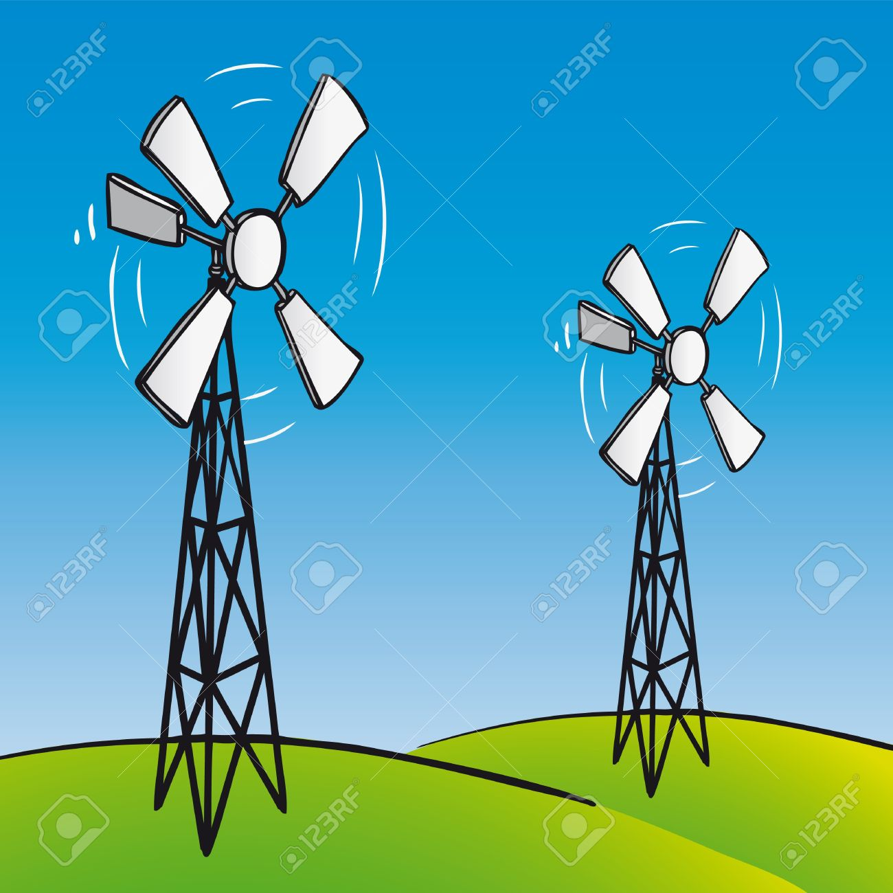 Old Wind Turbine Royalty Free Cliparts, Vectors, And Stock.