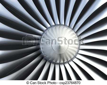 Stock Illustrations of Turbo jet engine.