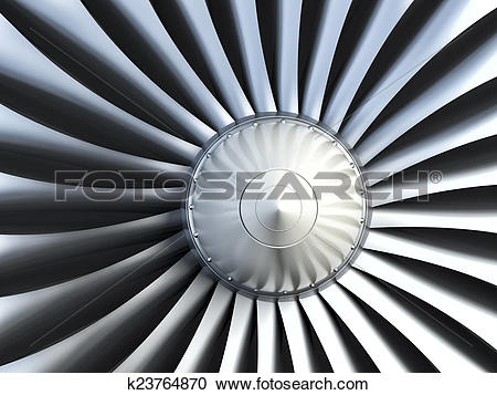 Stock Illustrations of Turbo jet engine k23764870.