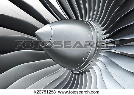 Stock Illustration of Turbo jet engine k23781258.