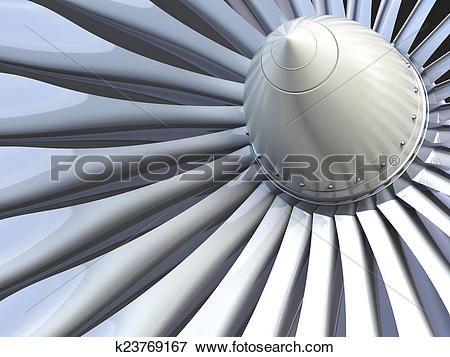 Stock Illustration of Turbo jet engine k23769167.