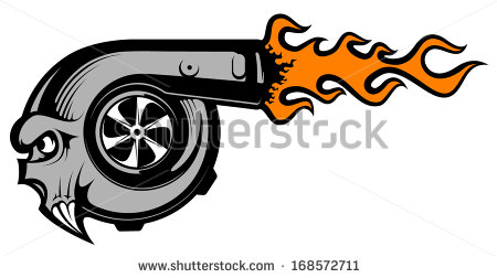 Vector Images, Illustrations and Cliparts: Vector turbo charger.