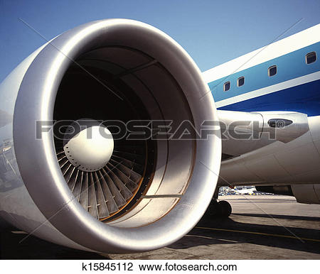 Stock Photo of Turbofan Jet Engine k15845112.