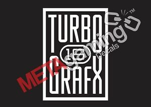 Details about Turbo Grafx 16 game logo for PC PS Xbox or Car Decal Sticker.