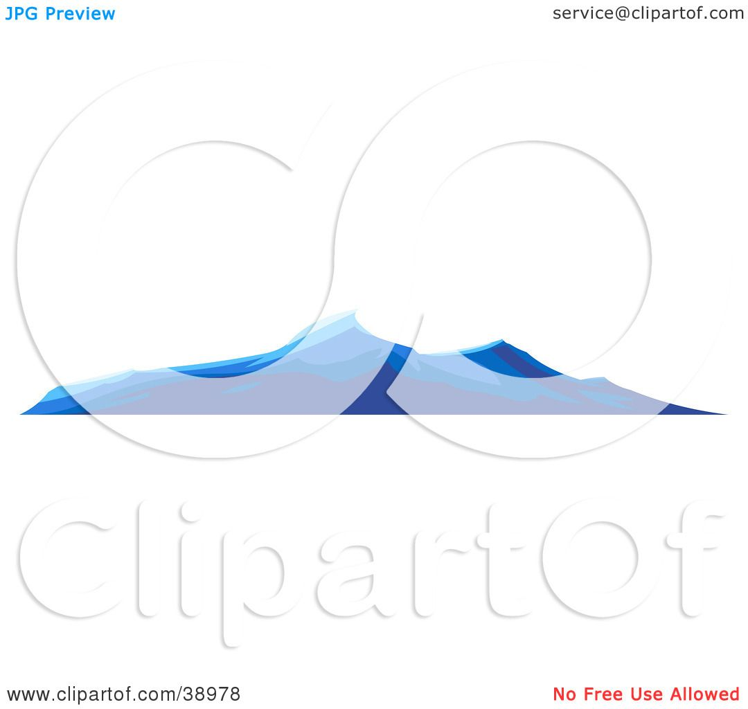 Clipart Illustration of Blue Turbulent Waves On The Surface Of The.