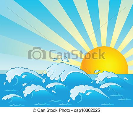 Vector Illustration of Waves theme image 4.