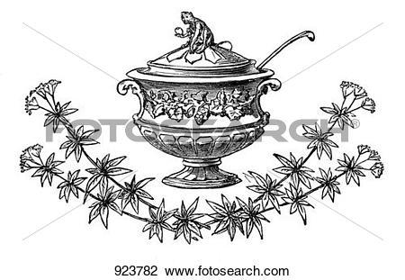 Clip Art of Festive soup tureen (illustration) 923782.