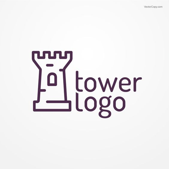 "Download ""Tower logo"", free vector clip art, by VectorCopy."