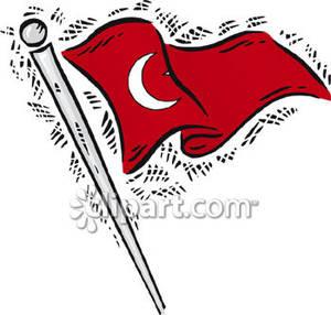 Türk bayrağı clipart.