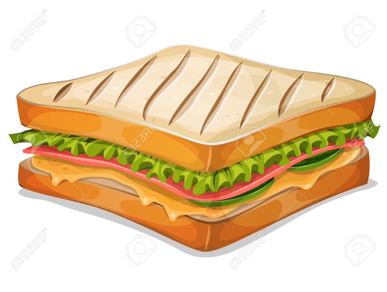 Ham And Cheese Sandwich Clipart.