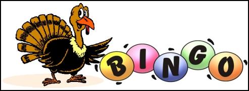Turkey Bingo Clipart.