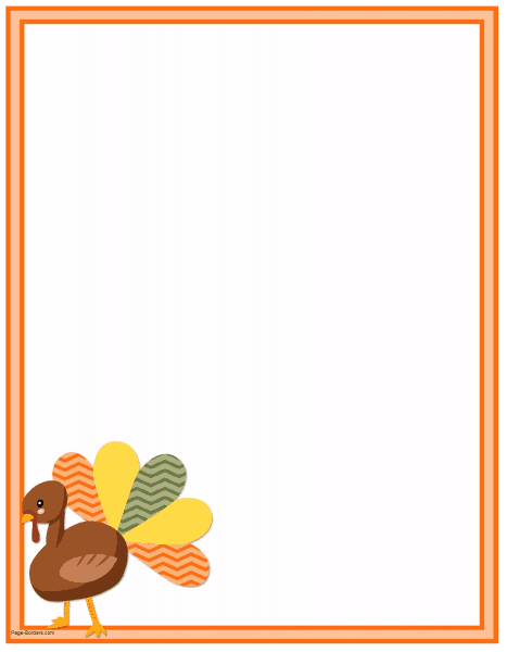 FREE Thanksgiving Border Printables.