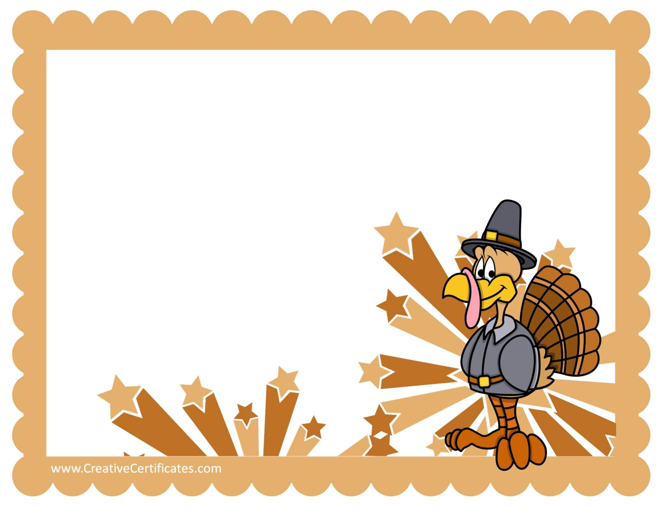 Unique Turkey Border Clip Art.