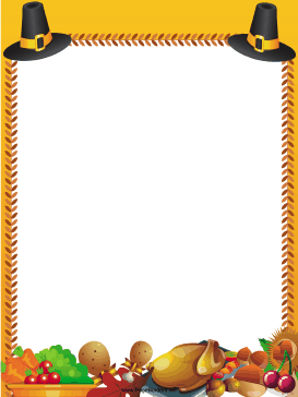 Great for Thanksgiving, this free, printable orange border.