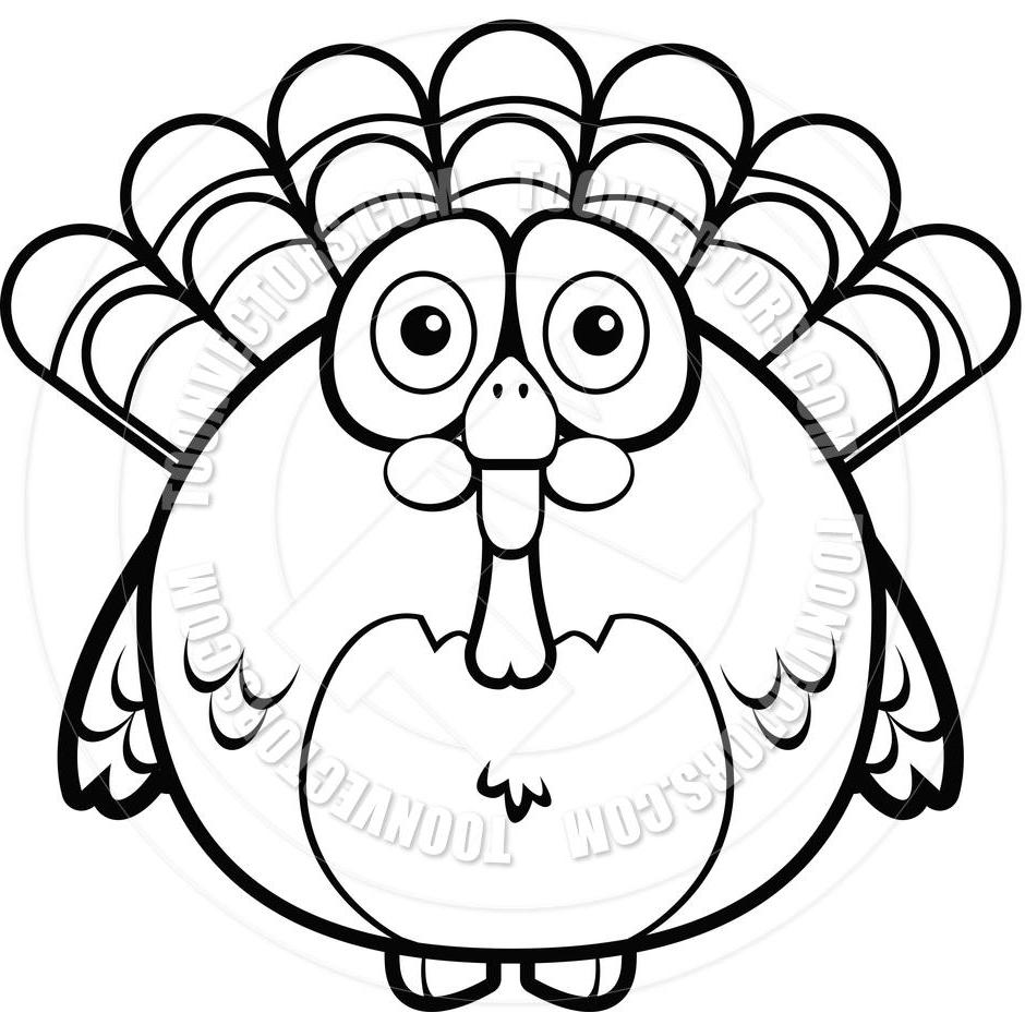 Unique Cute Turkey Clipart Black And White Drawing » Free.